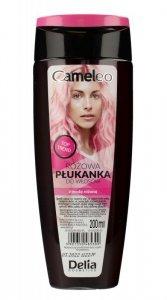 Delia Cosmetics Cameleo Płukanka do włosów różowa z wodą różaną 200ml