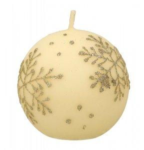 ARTMAN Boże Narodzenie Świeca ozdobna Płatek Śniegu - kula mała 1szt