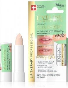 Eveline Lip Therapy S.O.S. Expert Intensywnie regenerujący balsam do ust Tint Nude  1szt