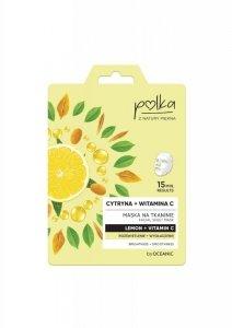 POLKA Maska na tkaninie Cytryna + Witamina C - rozświetlenie + wygładzenie  1szt