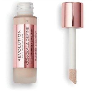 Makeup Revolution Conceal & Define Foundation Podkład kryjący F2  23ml
