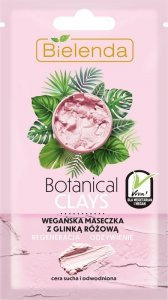 Bielenda Botanical Clays Różowa Glinka Wegańska Maseczka na twarz 8g