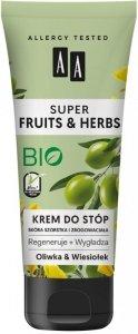 AA Super Fruits & Herbs Krem do stóp regenerująco-wygładzający Oliwka & Wiesiołek  75ml