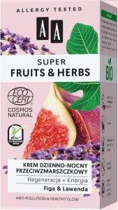 AA Super Fruits & Herbs Krem dzienno-nocny przeciwzmarszczkowy Figa i Lawenda  50ml