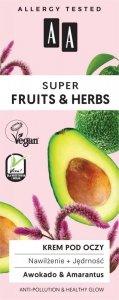 AA Super Fruits & Herbs Krem pod oczy nawilżająco ujędrniający Awokado & Amarantus 15ml