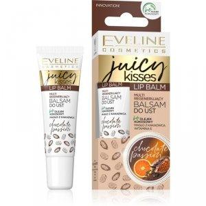Eveline Juicy Kisses Balsam do ust multi regenerujący Chocolate Passion  12ml
