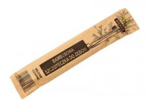 Bio4You Szczoteczka do zębów bambusowa miękka - czarne włosie  1szt