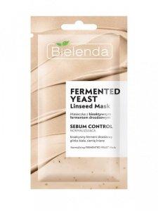 Bielenda Linseed Mask Maseczka na twarz normalizująca Fermented Yeast 2w1 8g