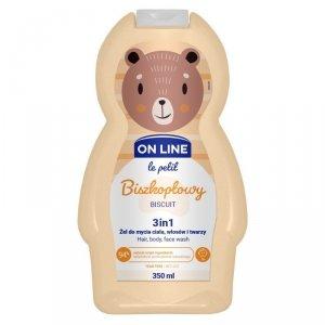 On Line Le Petit Żel do mycia ciała,włosów i twarzy 3w1 dla dzieci Biszkoptowy  350ml
