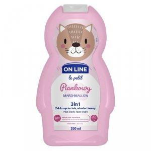 On Line Le Petit Żel do mycia ciała,włosów i twarzy 3w1 dla dzieci Piankowy  350ml