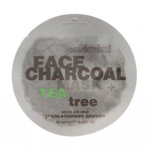 Cafe Mimi Face Charcoal Maseczka do twarzy Węgiel Bambusowy & Drzewo Herbaciane  10ml
