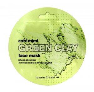 Cafe Mimi Green Clay Maseczka do twarzy Zielona Glinka & Jagody Goji  10ml