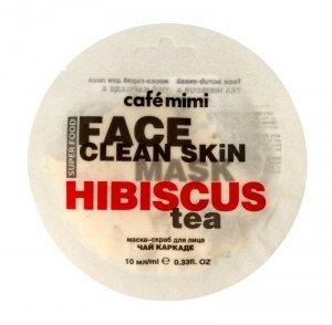 Cafe Mimi Face Clean Skin Maseczka - scrub do twarzy Herbata z Hibiskusa & Jaśmin  10ml