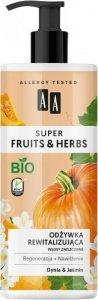 AA Super Fruits & Herbs Odżywka do włosów rewitalizująca Dynia & Jaśmin  500ml