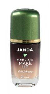 JANDA Make-up matujący - fluid fleksyjny nr 01 jasny beż  30ml