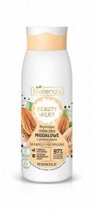 Bielenda Beauty Milky Kremowe Mleczko Migdałowe z prebiotykiem do kąpieli i pod prysznic - regeneruje  400ml