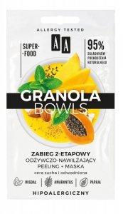 AA Granola Bowls Zabieg 2-etapowy odżywczo nawilżający Nutri - cera sucha i odwodniona 8ml(4mlx2)
