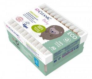 Cleanic Baby Eco Patyczki dla niemowląt i dzieci Organic - biodegradowalne  1op.-60szt