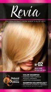 Revia Szampon koloryzujący do włosów nr 02 Rozświetlony Blond  1op.