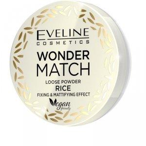 Eveline Wonder Match Puder sypki matująco - utrwalający Rice  1szt
