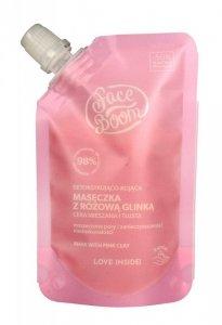 FaceBoom Maseczka z różową glinką detoksykująco-kojąca 40g