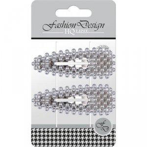 Top Choice Fashion Design Spinki typu Pyk perła srebrna (23811)  1op.-2szt