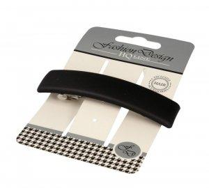 Top Choice Fashion Design Spinka do włosów automatyczna czarna-mat (26324) 1szt
