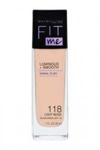 Maybelline Fit Me! Podkład rozświetlający Luminous&Smooth nr 118 Light Beige 30ml
