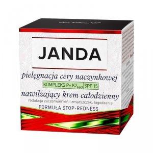 JANDA Pielęgnacja Cery Naczynkowej Krem całodzienny nawilżający SPF15  50ml