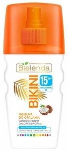 Bielenda Bikini Mgiełka do opalania kokosowa SPF15 na twarz i włosy  150ml