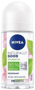 Nivea Dezodorant damski Naturally Good Bio Green Tea - roll-on 50ml