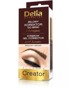 Delia Cosmetics Korektor do brwi żelowy z keratyną brązowy  7ml