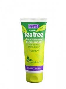 Beauty Formulas Tea Tree Maska glinkowa głęboko oczyszczająca  100ml