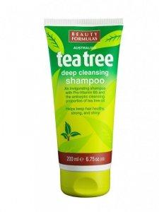 Beauty Formulas Tea Tree Szampon oczyszczający do włosów  200ml