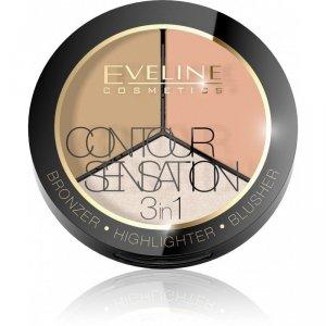 Eveline Contour Sensation Puder 3w1  nr Peache Beige  1szt
