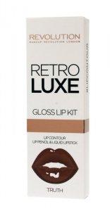 Makeup Revolution Retro Luxe Gloss Lip Kit Zestaw do ust (konturówka +błyszczyk) Truth  1op.