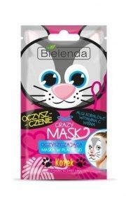 Bielenda Crazy Mask Maska oczyszczająca w płacie 3D Kotek