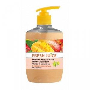 Fresh Juice Kremowe Mydło w płynie Mango & Carambola z olejkiem kameliowym  460ml