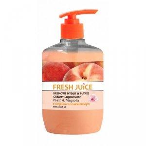 Fresh Juice Kremowe Mydło w płynie Peach & Magnolia z olejkiem brzoskwiniowym  460ml