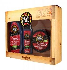 Farmona Zestaw prezentowy Tutti Frutti Jeżyna & Malina (olejek pod prysznic 425ml+masło do ciała 200ml+peeling 100ml)