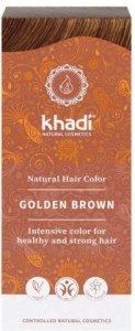 Khadi Ziołowa Farba Do Włosów Złoty Brąz 100G