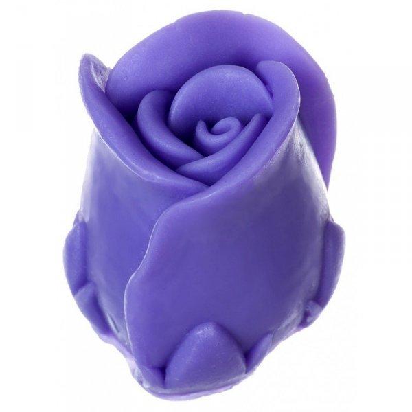 LaQ Mydełko glicerynowe Kwiat Róży - fioletowy  40g