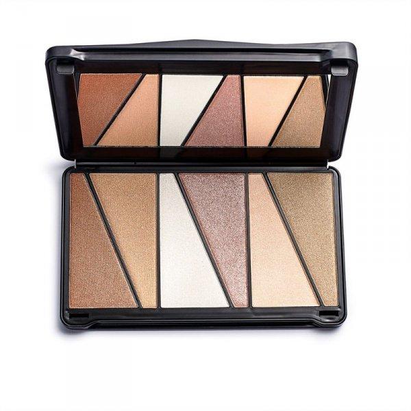 Makeup Revolution Paleta rozświetlaczy do twarzy Shook Highlight  Palette, 1 szt.