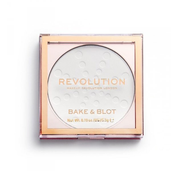 Makeup Revolution Bake & Blot Puder prasowany White 5.5g