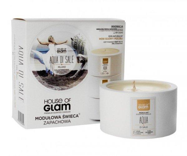 House Of Glam Modułowa Świeca zapachowa Aqua Di Sale Milano  200g