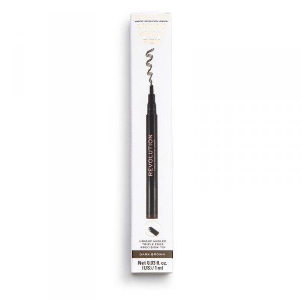 Makeup Revolution Micro Brow Pen Kredka do brwi Dark Brown 1szt