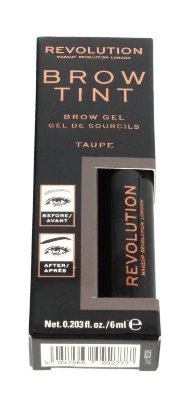 Makeup Revolution Brow Tint Żel do stylizacji brwi Taupe 1szt