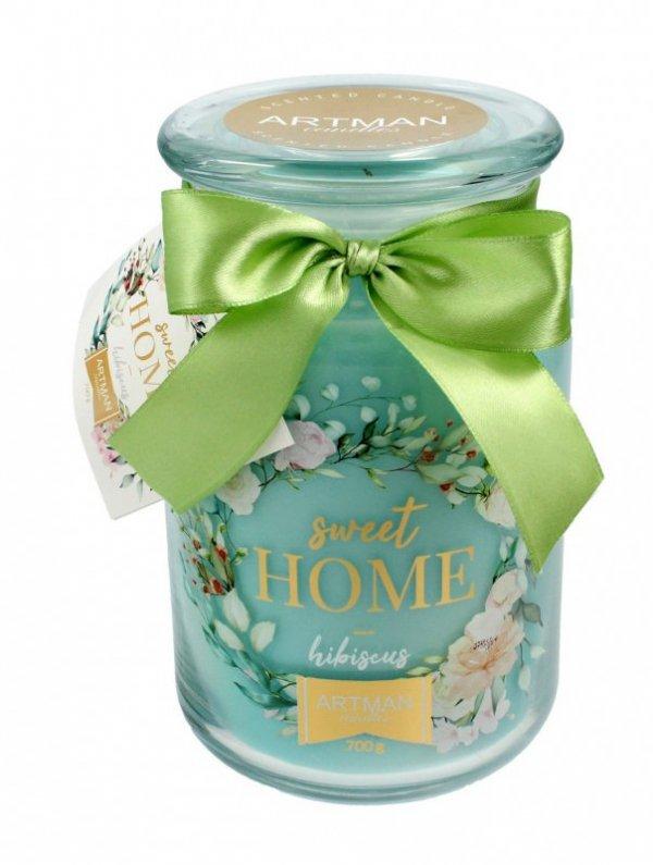 ARTMAN Świeca zapachowa Sweet Home Hibiscus słoik duży 1szt-700g