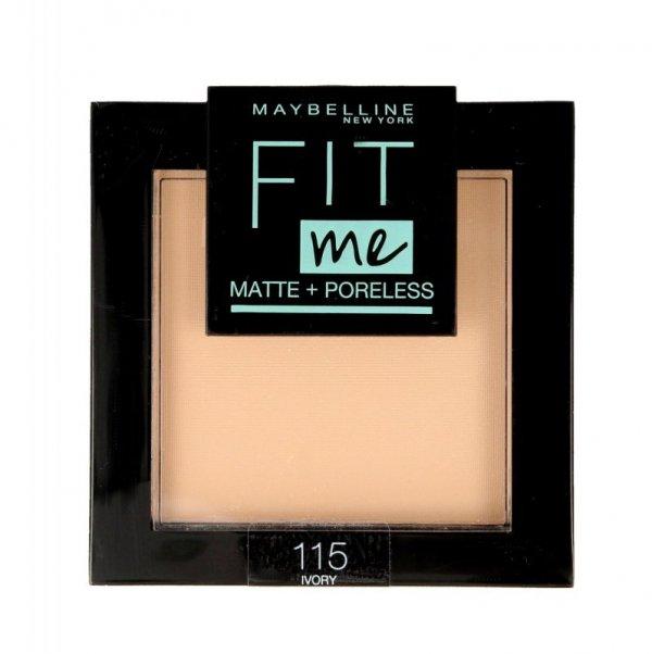 Maybelline Fit Me! Puder kompaktowy Matte+Poreless nr 115 Ivory  9g