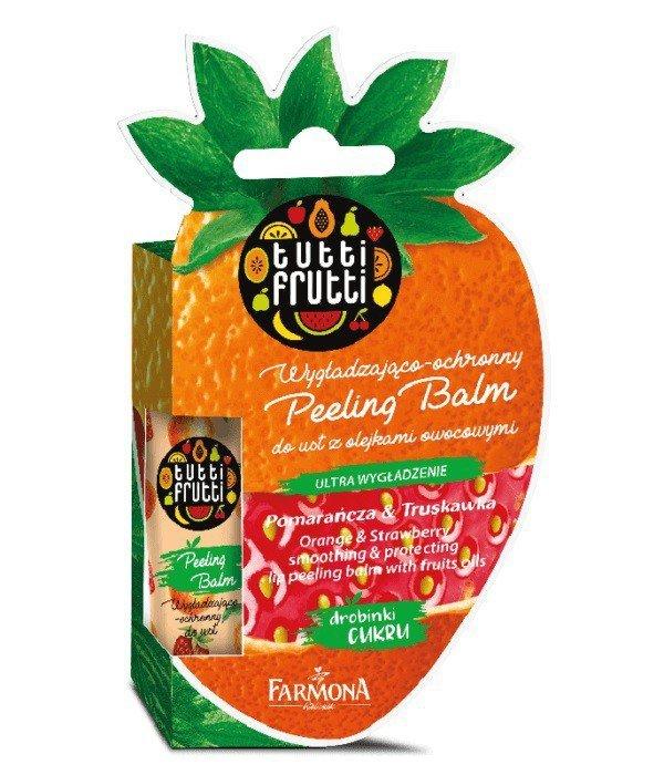 Farmona Tutti Frutti Balsam peelingujący do ust Pomarańcza & Truskawka  10g